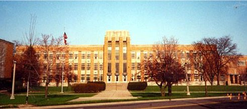 Niles East High School before the wrecking ball